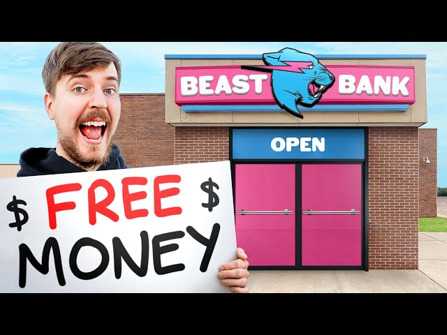 I Opened A FREE BANK