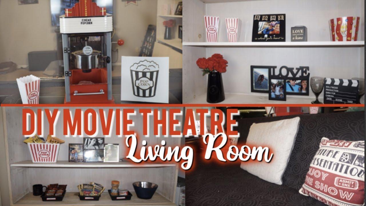 DIY Movie Theatre Room | Caylee Renée - YouTube