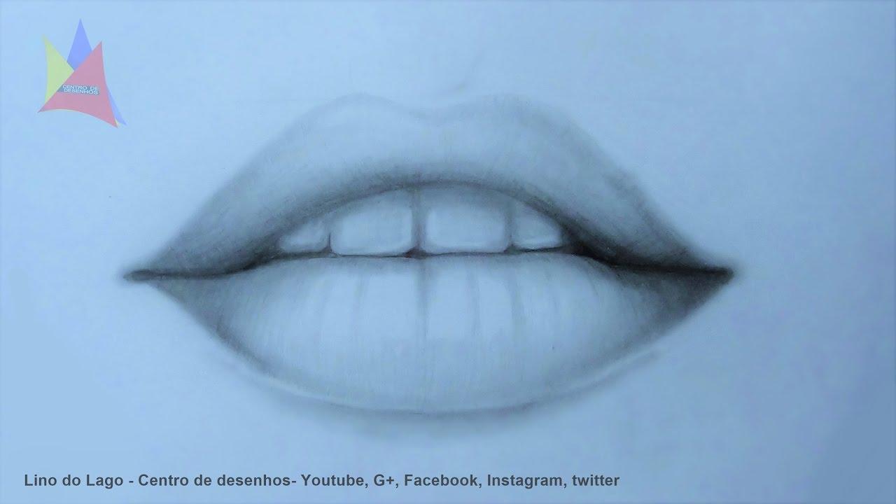 como desenhar boca realista narrado passo a passo simples youtube