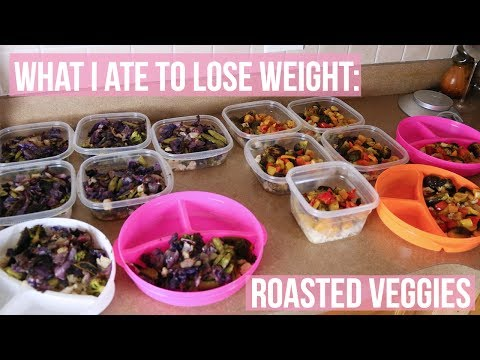What I Ate To Lose Weight Roasted Vegetables Meal Prep | PAIGE MARIAH