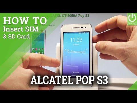 How to Insert SIM & SD in ALCATEL Pop S3 |HardReset.info