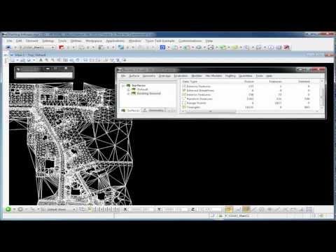 InRoads V8i Basics (Part 2 - Video) Surface Tools