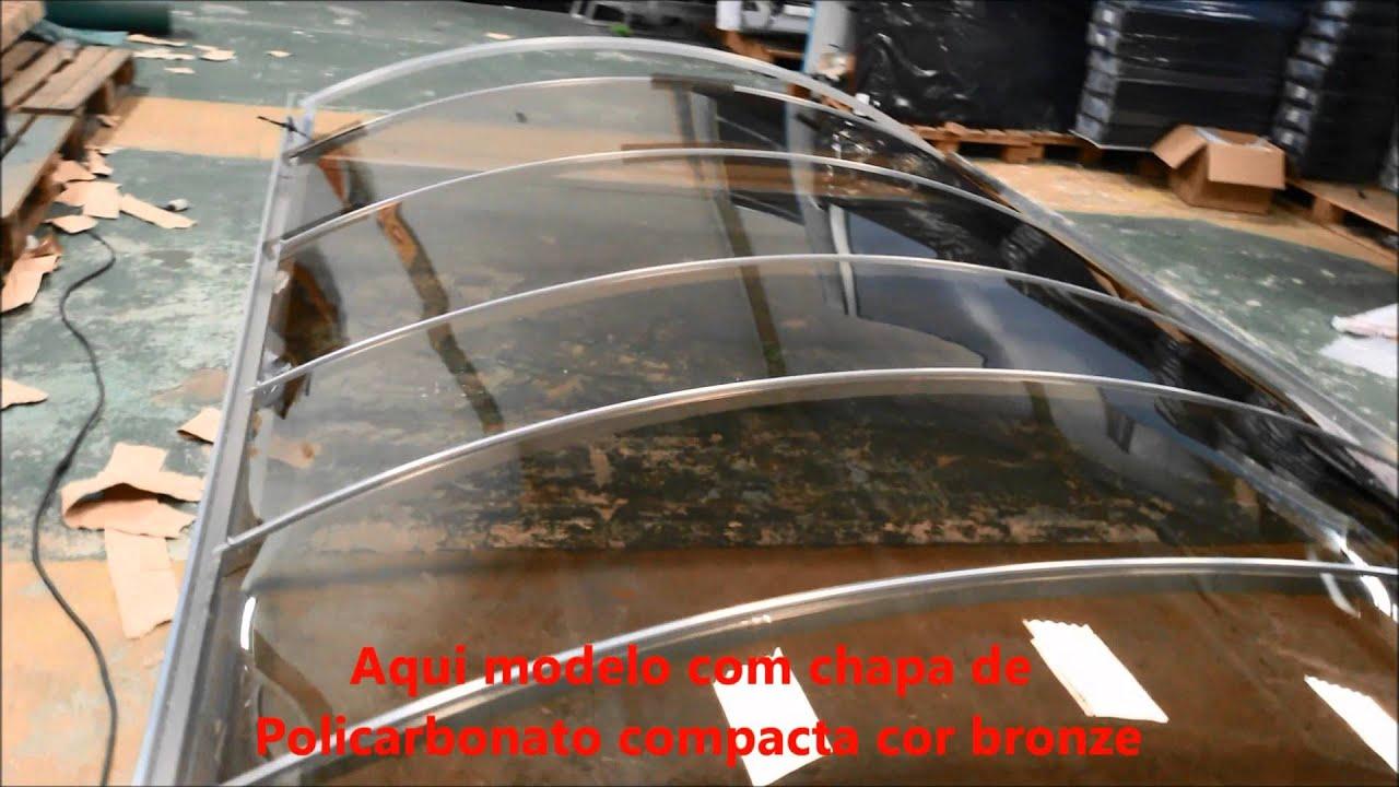 Cobertura de policarbonato em arco com perfil viga calha - Placa policarbonato transparente ...