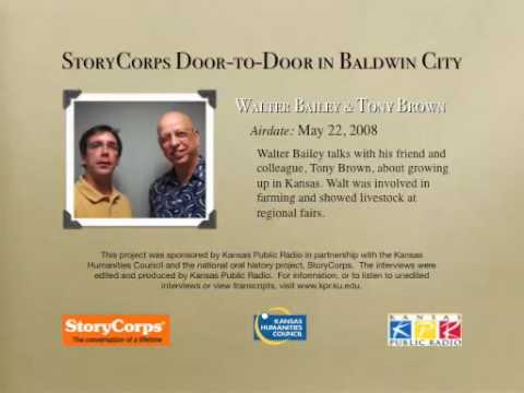 StoryCorps in Baldwin City:  Walter Bailey & Tony Brown