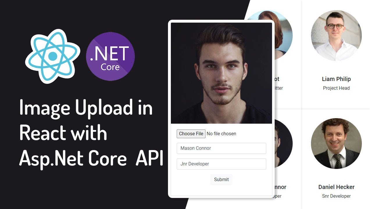 Image Upload in React with Asp.Net Core Web API