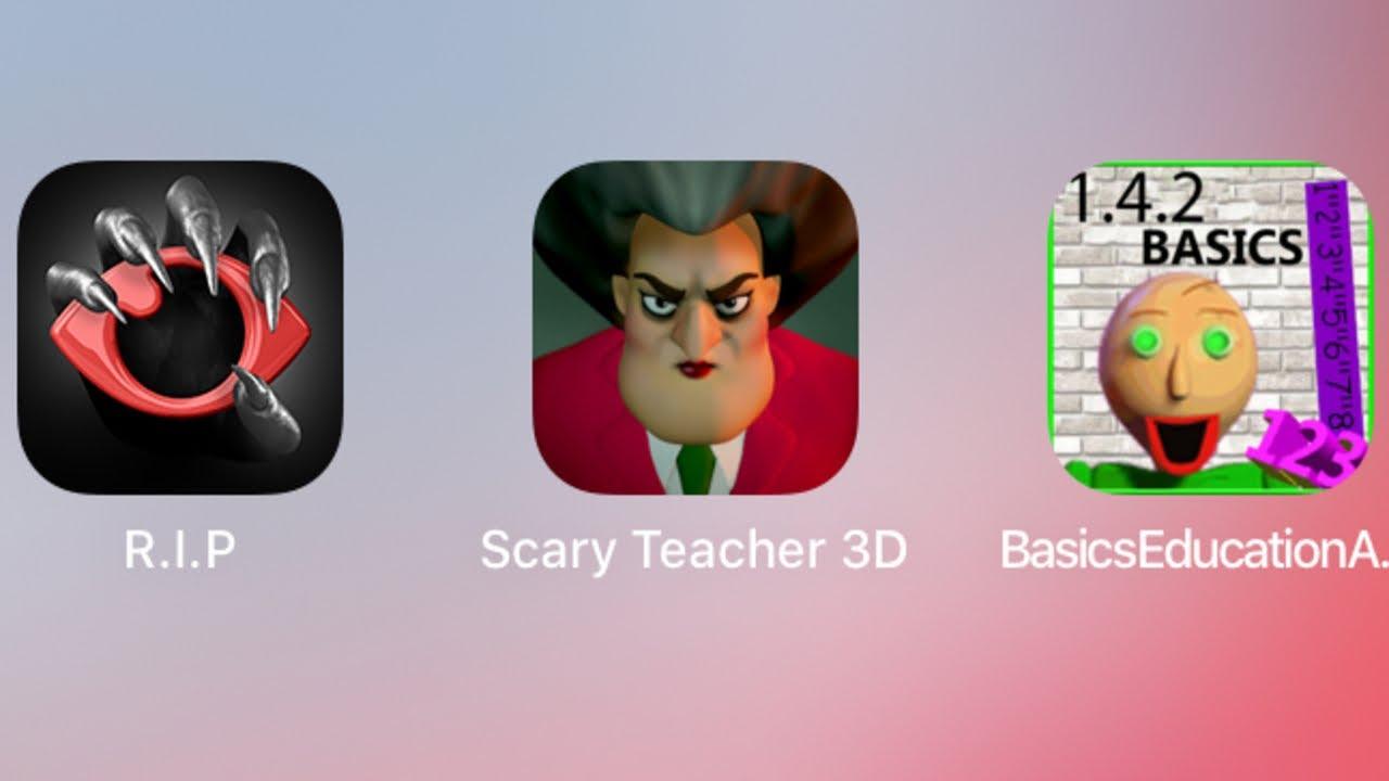 scary teacher 3d baldi r.i.p. hello neighbor granny baldi ...