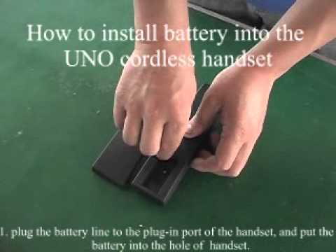 How To Remove Service Buttons for 32 Series, Install Battery & Remove Handset Cover for UNO Cordless
