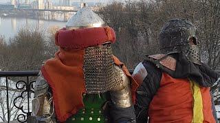 Масленница, Блины и Рыцарские Бои в Киеве, Украина, Knights Battle near Kiev-Pechesk Lavra