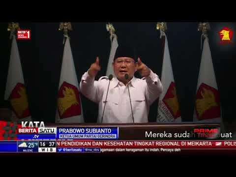 Isi Pidato Prabowo Peridiksi Indonesia Akan Bubar