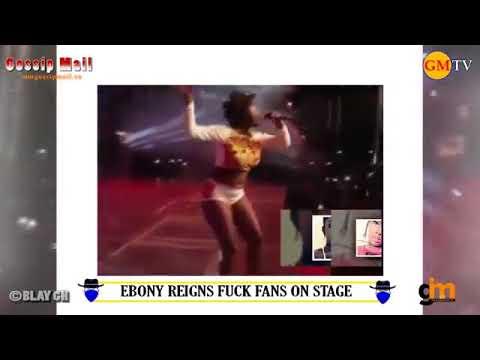 Ebony Reigns Show Her Tonga on Live Stage And Some Ghanaians Can't Stop Insulting Her