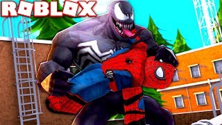 SPIDERMAN VS VENOM IN ROBLOX! **SUPERHERO BATTLE**