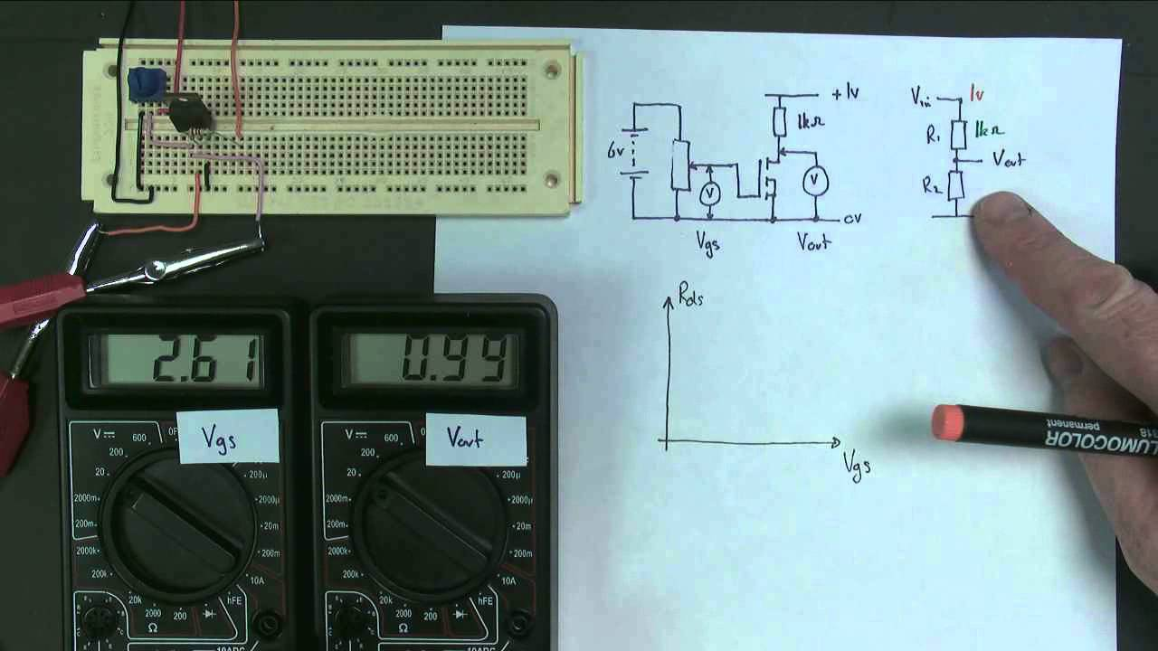 Mosfet Part4 Variable Resistor1 Youtube Voltagecontrolledresistor Measuringandtestcircuit Circuit