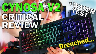 Razer Cynosa V2 Keyboard Review - Worth $60? (Sound Test and Water Spill Test)