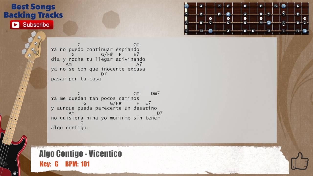 Vicentico - Algo contigo (Lyrics/Letra) - YouTube