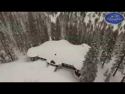 Home buried in snow near Incline Village