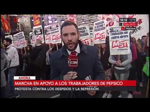 Marcha en apoyo a los trabajadores de Pepsico