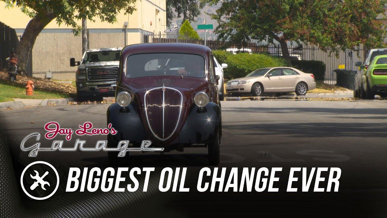 Biggest Oil Change Ever - Jay Leno's Garage