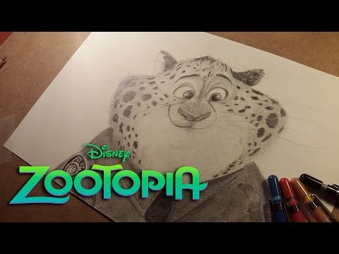clawhauser-(zootopia)---pencil-drawing