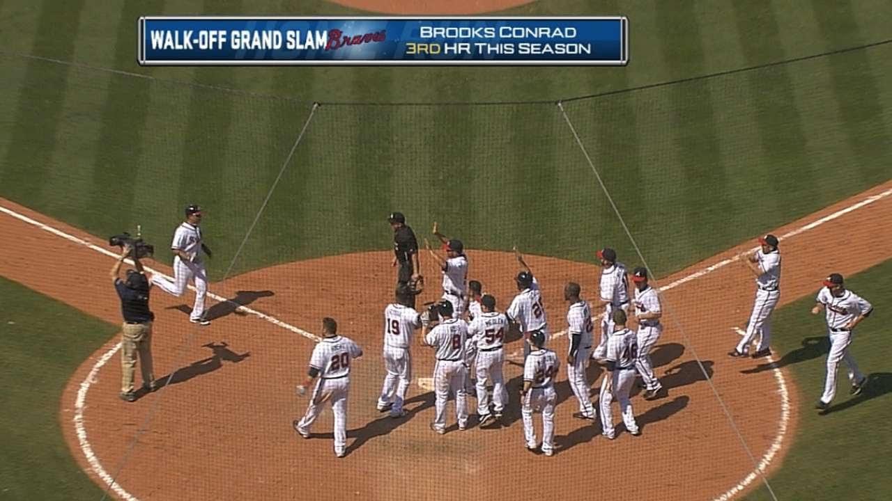 Conrad's slam gives Braves walk-off win - YouTube