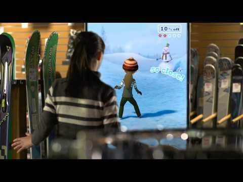 Kinect for Windows Ski Shop Scenario Video