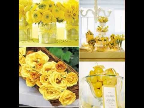 Yellow Wedding Decorations Ideas Youtube