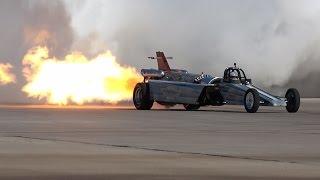 4K | Spectacular Race!JET CAR vs. JET AIRCRAFT at Aviation Nation 2016