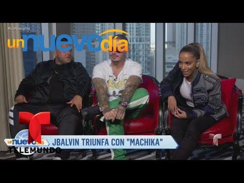"""Jeon J Balvin y Anitta conquistan al mundo con """"Machika""""  Un Nuevo Día  Telemundo"""