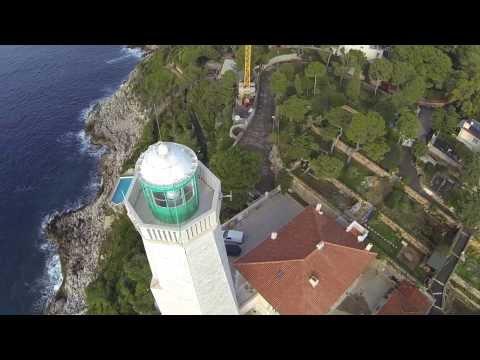 Phare du Cap Ferrat vu du ciel - Saint Jean Cap Ferrat - Drone in Nice DN