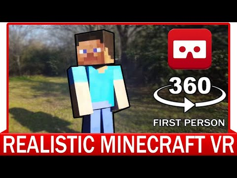 360° VR VIDEO – REALISTIC MINECRAFT VR – VIRTUAL REALITY 3D