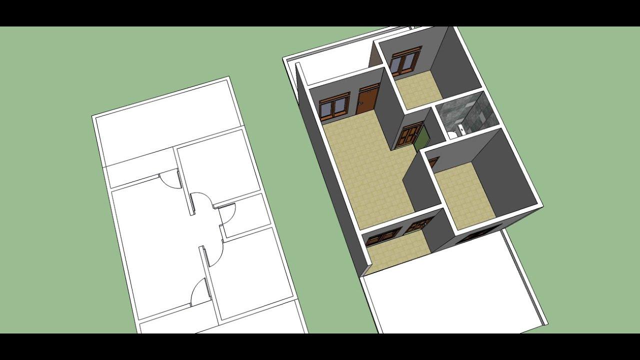 Membuat Denah Rumah sederhana dengan sketchup part 2  YouTube
