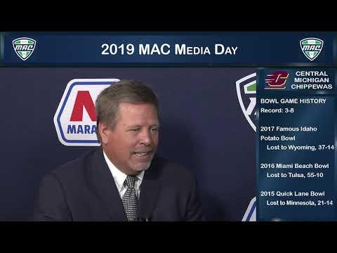 Central Michigan Head Coach Jim McElwain - MAC Football Media Day