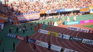 試合終了後の応援と万歳です。 明治安田生命J1リーグ 第12節アルビレッ...