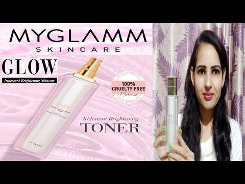 New My Glamm Iridescent Brightening Toner Review & Demo||