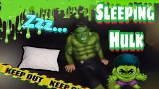 Sleeping Hulk - Funny Costumes,  (Funny Halloween Video) 🤣😂🎃