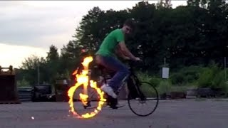 How to Make a Real Life Ghost Rider Bike! (Captain Cringe Classic)