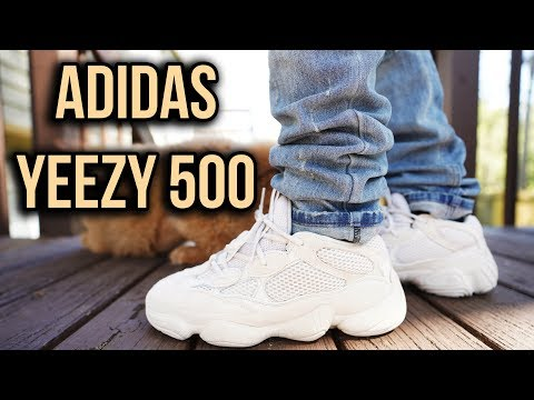 newest fce48 497b1 ADIDAS YEEZY 500 DESERT RAT BLUSH REVIEW AND ON FOOT ...