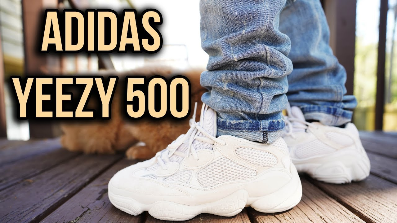 best loved d763d f60ad ADIDAS YEEZY 500 DESERT RAT BLUSH REVIEW AND ON FOOT !!!