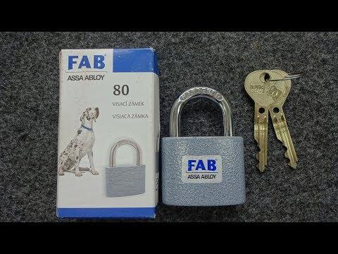 Взлом отмычками FAB   (1131) FAB Padlock from Czech Republic