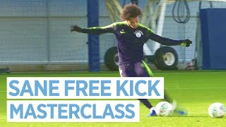 SANE FREE KICK MASTERCLASS | TRAINING | PRE LEICESTER CARABAO CUP