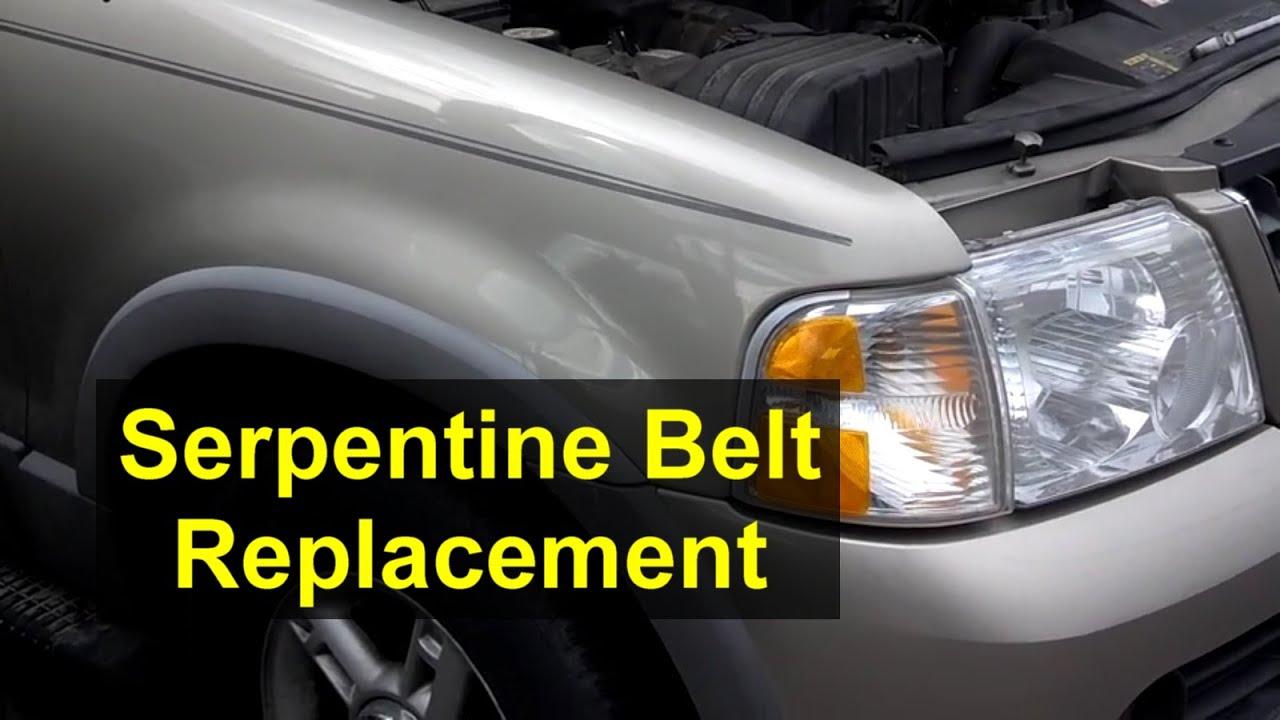 medium resolution of fan belt or serpentine belt replacement ford explorer 4 0 v6 engine votd