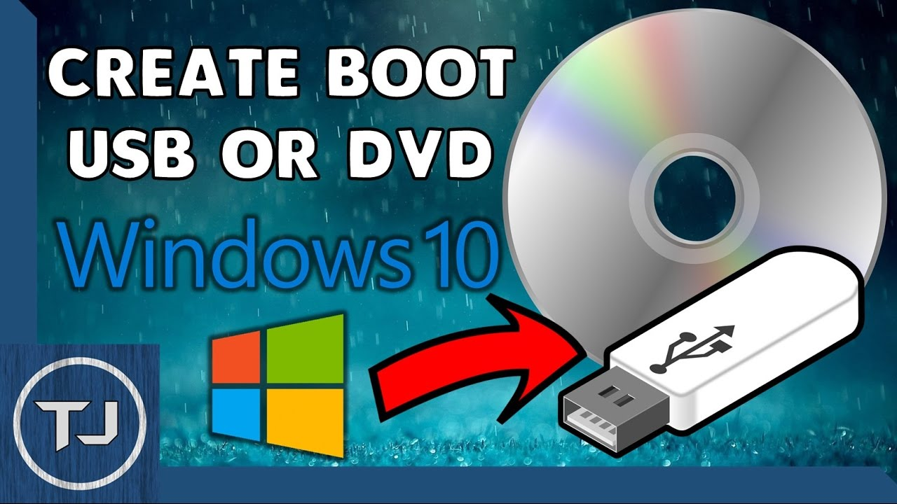 make bootable windows 10 usb from cd