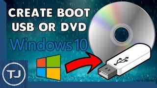 How To Create A Windows 10 Boot USB/DVD 2017 Tutorial!