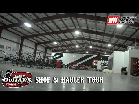 Larson Marks Racing: Shop & Hauler Tour