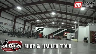 Larson Marks Racing: Shop & Hauler Tour
