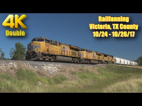 [4K] Railfanning Victoria, TX County 10/24 - 10/26/17 Double 4K launch