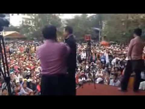 Khmernewstime - Meach Sovannara's Speech to the Protesters on Day16th - Part1/2
