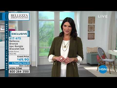 Bellezza Bronze 6piece Bangle Bracelet Set. http://bit.ly/2LaaMmy