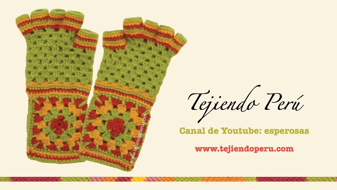 Cómo tejer mitones a crochet - YouTube