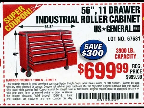 harbor freight 56 inch tool box (base) unboxing - youtube
