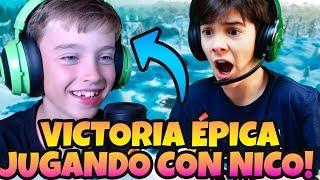 VICTORIA EN *FORTNITE JUGANDO CON LOS GAMEPLAYS DE NICO